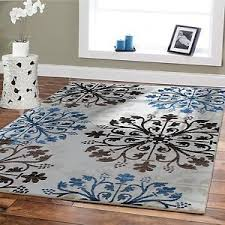 Modern Rug 8x10 Large Rugs 8x10 Blue Area Rugs 5x8 Rugs Blue Brown Floor