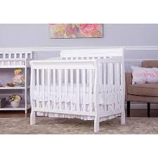 White Mini Cribs On Me Aden Convertible 4 In 1 Mini Crib White On