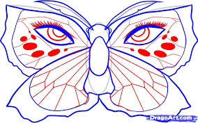 draw a butterfly by drawing sheets added by