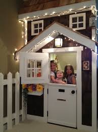 Ana White Diy Basement Indoor Playground With Monkey Bars Diy by Kids U0027 Playhouse Under Stairs Do It Yourself Home Projects From