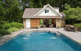 Small Pool House Plans Inside Pool House Ideas