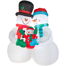shop holiday living 10 ft x 4 59 ft lighted snowman christmas