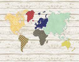 World Map Art Print by Craftaholics Anonymous Faux Pallet Art World Map Printable