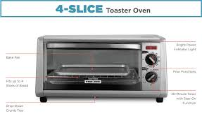 Under Counter Toaster Oven Walmart Black Decker 4 Slice Toaster Oven Stainless Steel To1430s