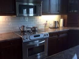 Glass Subway Tiles Backsplash Kitchen Traditional With None - Subway tile backsplash kitchen