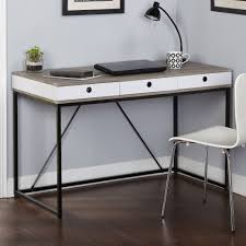 Desk With Outlets by Chelsea Desk With 3 Drawers Black Gray White Walmart Com