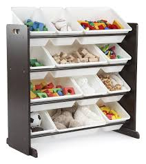 tot tutors kids u0027 toy organizer with storage bins espresso tot
