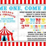 birthday circus invitations circus birthday invitation 1st