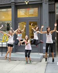 Hit The Floor Bachelor Party Dance - a bachelorette ride for the bride at soulcycle martha stewart