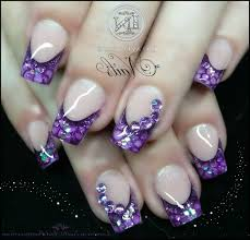 purple fake nail designs choice image nail art designs