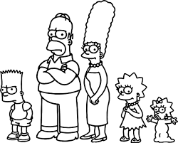 watch the simpsons still really hates fox news coloring page