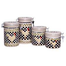 rooster canisters kitchen products home essentials and beyond 4 rooster canister set quill