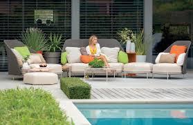 modular sofa contemporary garden fabric hive by fabrice