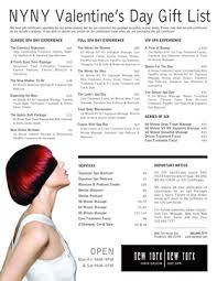 gift list s day gift list new york new york hair salon and spa