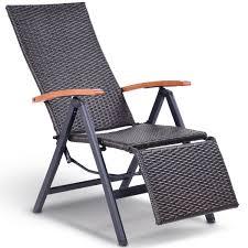Patio Recliner Chair Costway Rakuten Costway Patio Folding Chair Lounger Recliner