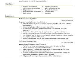 Security Guard Resume Template Unusual Ideas Design Security Guard Resume Sample 10 Best