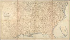 Map Of The Southern States by Norman B Leventhal Map Center