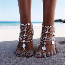 barefoot sandals 2018 new arrival barefoot sandals for silver anklets