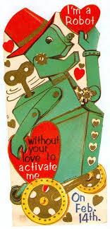 retro valentines vintage robot vintage valentines