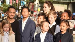 kid s angelina jolie brad pitt s kids look all grown up at her film