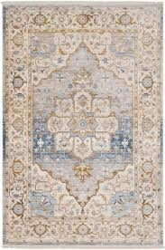 Blue Brown Area Rugs Mendelsohn Vintage Traditional Blue Brown Area Rug