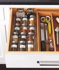 In Drawer Spice Racks Smart Ideas For Organizing Your Kitchen Real Simple