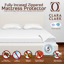 amazon com clara clark queen size hypoallergenic water proof