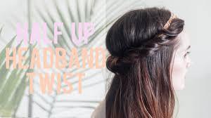 headband roll half up headband roll hair tutorial