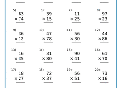multi digit multiplication and the standard algorithm education com