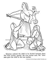 wise king solomon testament coloring pages bible printables