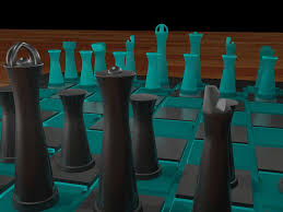 decorating green and black as unique chess sets with 3d print a