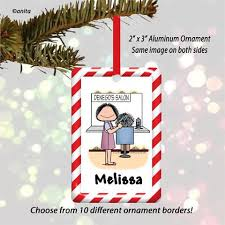hair stylist ornament personalized hairdresser ornaments