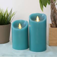 Electric Candles For Windows Decor Decorating Cozy Flameless Candles With Timer In Blue And Set In
