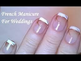 french manicure tutorial at home diy elegant u0026 easy wedding nail