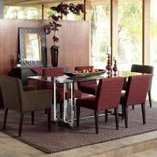 west elm hicks glass dining table base new crib pinterest room