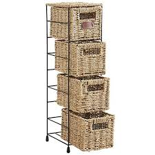 amazon com vonhaus 4 tier small seagrass basket storage tower