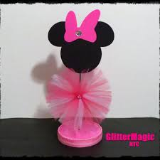 minnie mouse center pieces 1 pink minnie mouse centerpiece minnie from glittermagic23s on