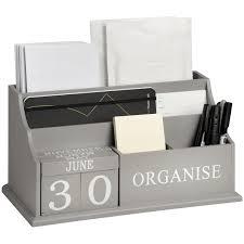 Modern Desk Tidy Grey Organise Desktop Organiser From Baytree Interiors