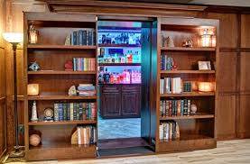 Wide Bookcase With Doors Bookcase Doors Secure Custom High Tech Secret Bookcases