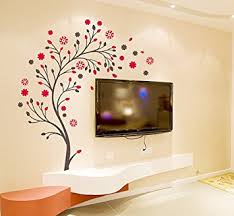 Buy Decals Design Beautiful Magic Tree With Flowers Wall Sticker - Wall design decals