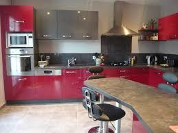 Cuisine Rouge Et Grise by Indogate Com Jeu Decoration Cuisine
