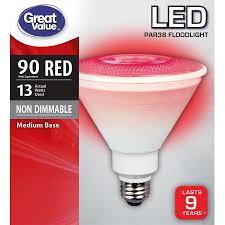 red led flood light great value led p38 floodlight light bulb 13w 90w equivalent red