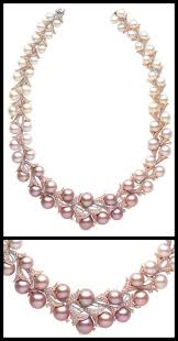 pink pearl gold necklace images Yoko london archives diamonds in the library jpg