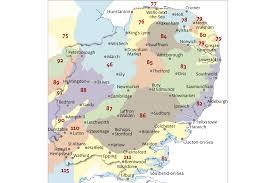 map of east uk national character area profiles gov uk