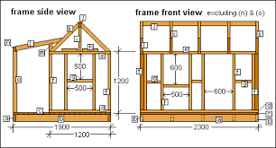 Wood House Plans by Free Wendy House Plans Metric Version