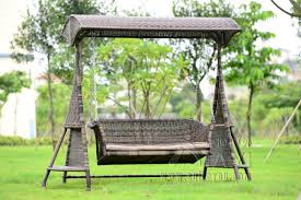 Swing Chairs For Patio 2 Person Wicker Garden Swing Chair Outdoor Hammock Patio Leisure