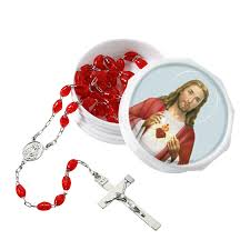sacred heart rosary heart rosary with two 6 pk