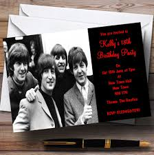 personalised halloween party invitations the beatles theme personalised party invitations the card zoo
