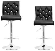 Black Swivel Bar Stool Modern Swivel Bar Stool With Crystals And