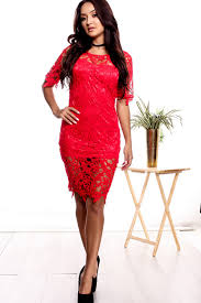 this lace crochet dress is perfect for going out and still feel